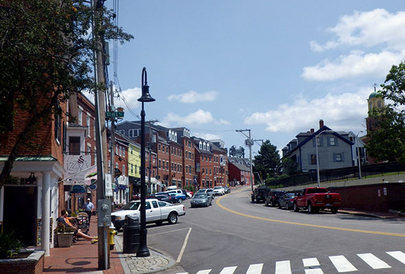 Bow Street in Portsmouth, NH