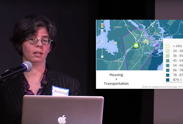Urban Planner Jennifer L. Hurley discussing affordable housing